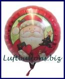Nikolaus Luftballon, Rundballon Weihnachtsmann