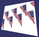 USA Party- und Festdekoration, Wimpelgirlande