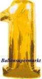 Zahlen-Luftballon Gold, Zahl 1