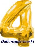 Zahlen-Luftballon Gold, Zahl 4