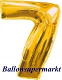 Zahlen-Luftballon Gold, Zahl 7