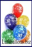 Zahlen-Luftballons, Zahl 30, Kristallfarben, 50 Stück
