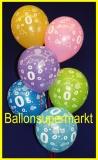 Zahlen-Luftballons, Zahl 0, 100 Stück