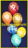 Zahlen-Luftballons, Zahl 10, 100 Stück
