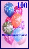 Zahlen-Luftballons, Zahl 18, 100 Stück