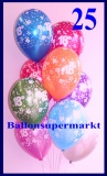 Zahlen-Luftballons, Zahl 18, 25 Stück