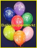 Zahlen-Luftballons, Zahl 30, 100 Stück