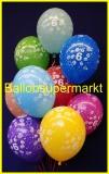 Zahlen-Luftballons, Zahl 6, 10 Stück
