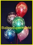 Zahlen-Luftballons, Zahl 70, 25 Stück