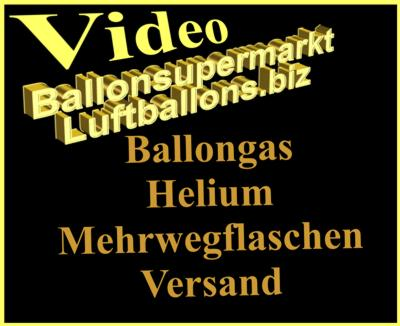 Video: Helium und Ballongas in Mehrwegflaschen, Versand und Lieferung