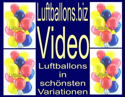 Video: Luftballons.biz, Luftballons in schönsten Variationen