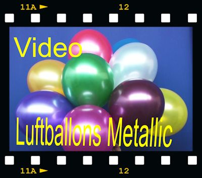 Metallic Luftballons Video