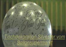 Video: Luftballons Silvester, Tischdekoration Silvesterfeier, Partydekoration Silvester, Ballon-Buketts