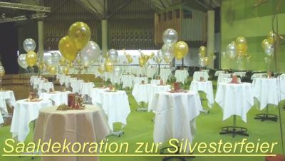 Video Saaldekoration Silvester